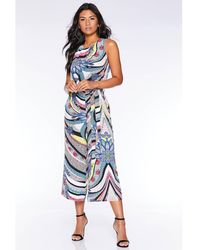 Quiz - Multicoloured Abstract Print Jumpsuit - Lyst