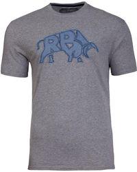 Raging Bull - Applique Grey T-shirt - Lyst