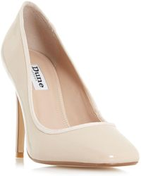 Dune - Natural 'alanaa' Square Toe Court Shoes - Lyst