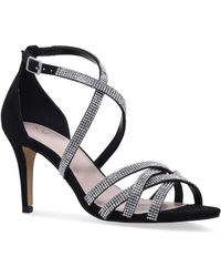 Nine West - Black 'diva' Mid Heel Sandals - Lyst