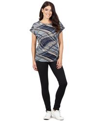 Izabel London - Multicoloured Batwing Sleeves Printed T-shirt Top - Lyst