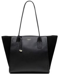 Radley - Tiverton Park Black Large Zip-top Tote Bag - Lyst