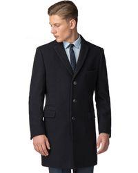 Ben Sherman - Navy Melton Overcoat - Lyst