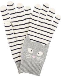 Hobbs - Grey 'sophie' Cat Glove - Lyst