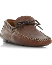 Bertie - Dune Baraboo Leather Driving Loafers - Lyst