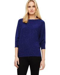 Phase Eight - Cobalt Becca Sparkle Batwing Jumper - Lyst