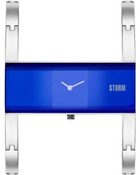 Storm - Ladies Lazer Blue Akiko Metal Strap Watch Akiko Laze Blue - Lyst