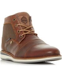 766614afce3f Dune Tan  capsicum  Contrast Panel Chukka Boots in Brown for Men - Lyst