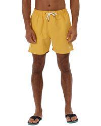 Regatta - Yellow 'mawson' Swim Shorts - Lyst