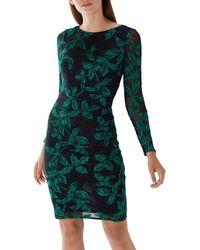 Coast - Black Floral 'louise' Embroidered Dress - Lyst