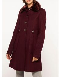 Dorothy Perkins - Tall Wine Dolly Coat - Lyst