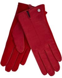 J By Jasper Conran - Red Leather Gloves - Lyst