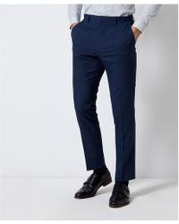 1ede1aa48801c Ted Baker Zoltro Cross Hatch Wool Trousers in Gray for Men - Lyst