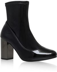 KG by Kurt Geiger - Black 'rolo' High Heel Ankle Boot - Lyst