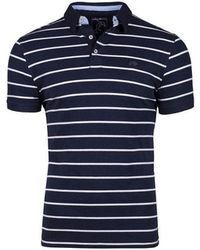 Raging Bull - Big And Tall Navy Jersey Fine Stripe Polo Shirt - Lyst