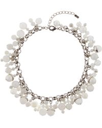 Hobbs - Silver 'bobby' Necklace - Lyst