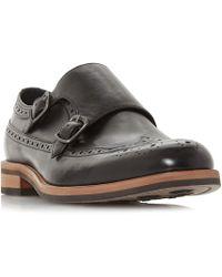 Bertie - Black 'preach Ii' Double Monk Strap Shoes - Lyst