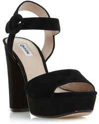 Dune - Black 'monacco' Two Part Platform Sandals - Lyst