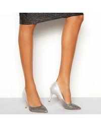 Faith - Silver Glitter 'chariot Ombre' Stiletto Heel Court Shoe - Lyst
