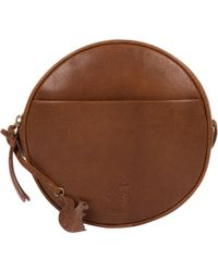 Conkca London - Dark Tan  rolla  Leather Circular Cross-body Bag - Lyst 58010bda7d991