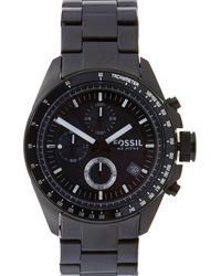 Fossil - Men's Black Stainless Steel Chronograph Watch Ch2601 - Lyst