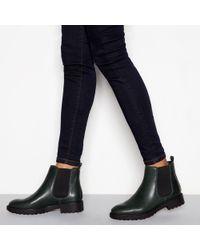 da9683dabc8 J By Jasper Conran Black Leather Croc-effect Lace Up Boots in Black ...