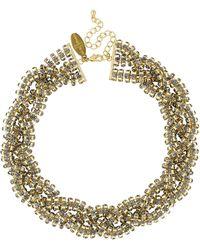 J By Jasper Conran - Designer Grey Diamante Crystal Twist Necklace - Lyst