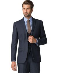 Racing Green - Navy Boucle Tailored Jacket - Lyst
