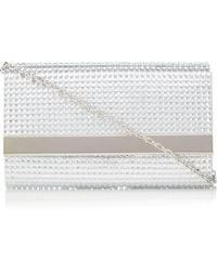 Call It Spring - Silver 'niceville' Diamante Clutch Bag - Lyst