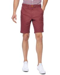 Racing Green - Red Chino Shorts - Lyst