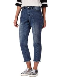 House of Holland - Dark Blue Mid Wash Slim Fit Jeans - Lyst