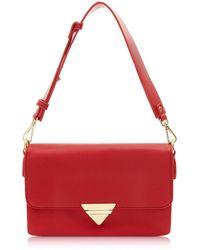 Marc B. - Red 'tina' Triple Compartment Shoulder Bag - Lyst