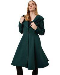 James Lakeland - Green Hooded Tailored Coat - Lyst