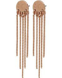 Pilgrim - Rose Gold Plated 'emery' Drop Earrings - Lyst