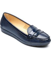 Freestep - Navy 'sophia' Loafer Shoes - Lyst