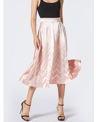 1c6be207b8 Givenchy Pleated Skirt In Blush Silk-chiffon in Blue - Lyst