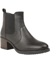 Lotus - Black Leather 'rubay' Block Heel Chelsea Boots - Lyst