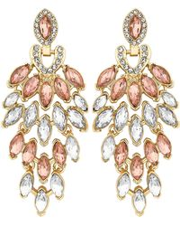 Jenny Packham - Designer Crystal Statement Drop Earrings - Lyst