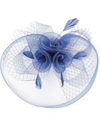 Quiz - Navy Rose Large Net Fascinator - Lyst