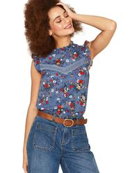 Oasis - Multicoloured Blue Bouquet Shell Top - Lyst