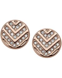 Fossil - Rose Gold 'vintage Glitz' Stud Earrings - Lyst