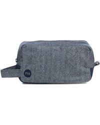 Mi-Pac - Navy Herringbone Wash Bag - Lyst