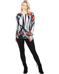 Izabel London - Multicoloured Printed Tunic Top - Lyst