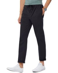 Red Herring - Black Drawstring Chino Trousers - Lyst