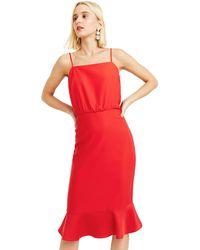 a2b32e9c9c73 Oasis Multi Red Botanical Scarf Column Midi Dress in Red - Lyst