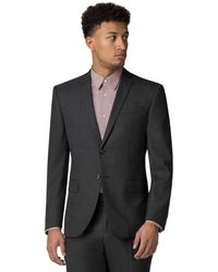 Racing Green - Charcoal Pick And Pick Athletic Fit Jacket - Lyst