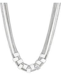 J By Jasper Conran - Silver Multi Row Link Necklace - Lyst