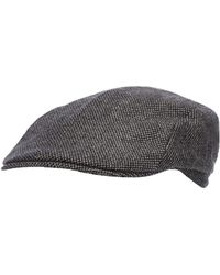 J By Jasper Conran - Grey Textured Flat Cap With Wool - Lyst