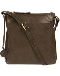 Conkca London - Olive 'nikita' Leather Cross-body Bag - Lyst