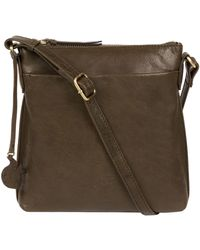 Conkca London - Olive 'nikita' Leather Cross-body Bag - Lyst